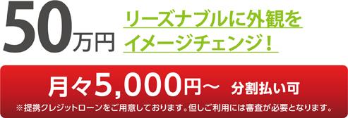 50万円 リーズナブルに外観をイメージチェンジ!